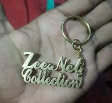 PERSONALIZE KEYCHAIN WITH YOUR 2 NAMES HAND CAVERD, GIFT UR LOVE ONE