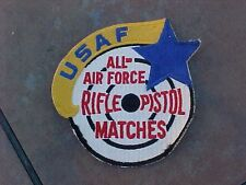 ORIGINAL VINTAGE USAF ALL AIR FORCE RIFLE PISTOL MATCHES JACKET PATCH