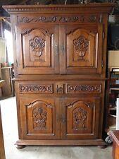 Armoire   Buffet quatre portes Quatre portes   Décor de paniers fleuris XVIIIème