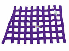 STR Window Net Saloon Webbing Heavy Duty Trapezoid SFI 27.1 Stock Car PURPLE