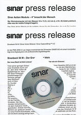 Sinar Presseinformation 2/04 inkl. CD Sinarback 54M Action Module press release