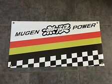 Mugen Racing banner sign shop garage jdm wheels wing body kit exhaust Super GT