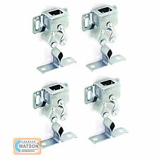 4x Metal DOUBLE ROLLER CATCH Zinc Plated Door Cupboard Caravan Boat Latch Silver