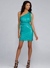 new $179 Calvin Klein all over sequin capri one shoulder party dress 10 L