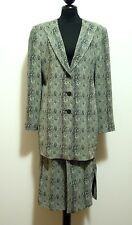 KRIZIA VINTAGE '80 Giacca Tailleur Full Dress Rayon Jacket Women Sz.L - 46