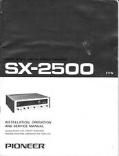 Pioneer SX-2500 Receiver Owners Manual
