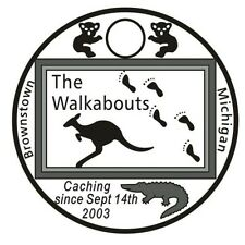 The Walkabouts 2016 Pathtag #40414 GEOCACHING Pathtags Bear Geocoin USA Tag