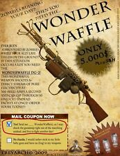 NAZI ZOMBIES WONDER WAFFLE MINI A4 POSTER BLACK OPS CALL OF DUTY