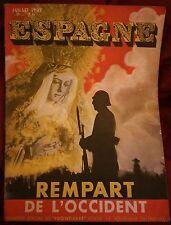 """Espagne rempart de l'Occident, n° spécial de """"Frontières"""" juillet 1937"""