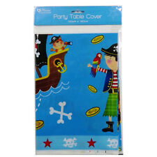 Pirate Party Printed Plastic Table Cover, Size 120cm x 180cm