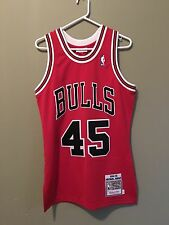 AUTHENTIC MITCHELL & NESS JORDAN JERSEY 45 Size Small 36