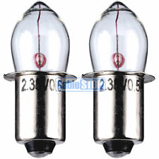 CLEAR PRE FOCUS 3.6v TORCH LIGHT BULB TWIN PACK 500mA Flange Fitting