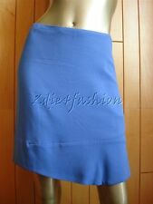 $845 New JIL SANDER Periwinkle Blue Asymmetric A-line Mini Skirt 4 34