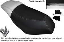 WHITE & BLACK CUSTOM FITS MALAGUTI PHANTOM F12 100 DUAL LEATHER SEAT COVER