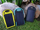 ZENTEK Solar Charger 5000mAh, Power Bank Dual USB Port Portable, Battery iPhone