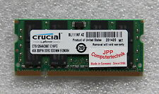 4 GB Memory Ram for Laptop Notebook DDR2 667 Mhz So-Dimm PC2-5300S 200 Pin CL5