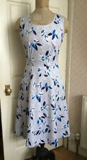 Vintage 1980's Ladies Summer Dress Full Skirt 50's Style With Pockets 12 14