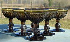 Baccarat? Service de 6 coupes à champagne en cristal moulé. Catalogue 1907