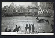 Dated 1914 View of Meeting w King Albert & French President Raymond Poincare