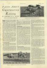 1928 Facts About Greyhound Racing, Capt Astley, Ch Kingsley Tennis