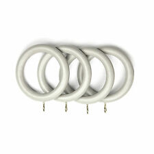 Dove Grey Wooden Curtain Rings For 35mm Poles - Packs Of 4