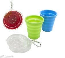 Summit Collapsible Camping Hiking Space Saver Silicone Mug Cup 220ml