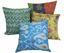 Wholesale Lot 5pc Indian Floral Kantha Cushion Cover Cotton Pillow Case Throw 16