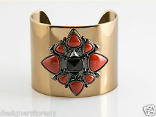 House of Harlow 1960 Nicole Richie Kaleidoscope Cuff in Gold/Red