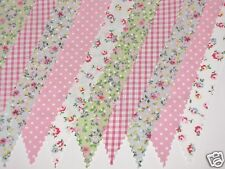Cath Kidston Rosebud Flowers Fabric Bunting Wedding Party Vintage 10ft / 3m NEW!