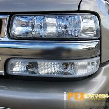 2000-2006 Chevy Suburban Tahoe / 99-02 Silverado Chrome Headlight + Signal Light