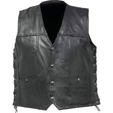 Diamond Plate™ Genuine Buffalo Leather Concealed Carry Biker Vest Size XL