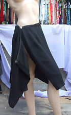 Joseph Ribkoff UK 12 BNWT Fantastic Elegant Wraparound Black Skirt Diamante Dec