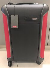 NEW Tumi Dark Grey/Red Lightweight International Carry-on Travel Luggage #283520