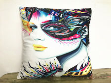 1x Simple painting Beautiful woman Home Decor sofa Cushion Covers Pillow Case