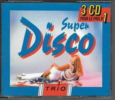 COFFRET COMPIL 3 CD 53 TITRES--SUPER DISCO--YMCA/NIGHT FEVER/MAGNOLIA/DISCO...