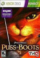 Puss in Boots (Microsoft Xbox 360 Kinect, 2011) ***VERY NICE*** Disk is flawless