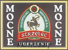 Poland Brewery Jędrzejów Strzelec Beer Label Bieretikett Centaur Horse je78.1