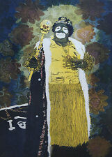 PHILLIP SAGE-New Orleans-Signed Lim Ed. Color Etching- Mardi Gras King Zulu