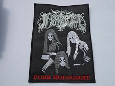 IMMORTAL PURE HOLOCAUST EMBROIDERED BLACK METAL PATCH