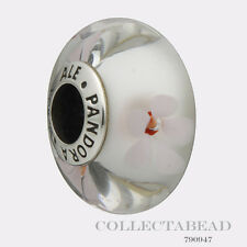Authentic Pandora Sterling Silver Murano Cherry Blossom Glass Bead 790947