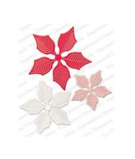 LARGE POINSETTIA SET DIE-Impression Obsession/IO Stamps (DIE323-Z)-Christmas
