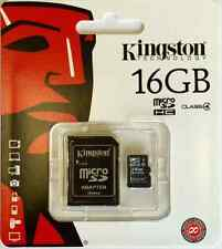Kingston 16GB scheda Micro SD and Adattatore per Samsung Galaxy S3 S4 S5 Mini