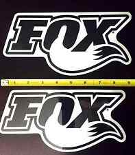"Fox Racing Shox Decals 2 New 9"" x 4.5"" Stickers Logo Fork Shock"