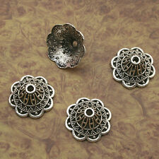 16pcs Tibetan silver flower bead cap findings X0146