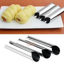 3pcs Stainless Steel Spiral Baked Mold Croissants Bread DIY Horn Pastry Tools