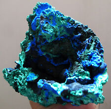 MUSEUM ! EXTRAORDINARY VIVID BLUE AZURITE W/ GREEN MALACHITE HUGE SPECIMEN