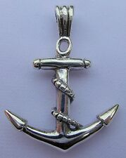 Sterling  Silver  (925)   Ship  Anchor  Pendant   !!      Brand  New  !!