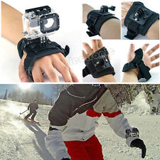 360 Rotation Glove Style Wrist Hand Strap Band Mount Holder For Gopro 4 3+ 3 2 1