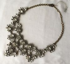 NEW J.Crew Crystal Floral Statement Bib Necklace Multifaceted SOLD OUT $198
