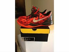 2013 Nike Zoom Kobe 8 VIII System Size 13 Challenge Red Orange Camo